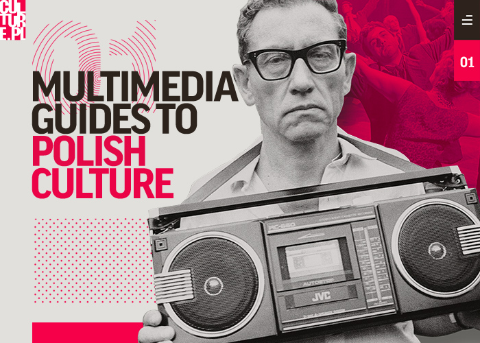 Awwwards website of the day: Multimedia Guides to Polish Culture