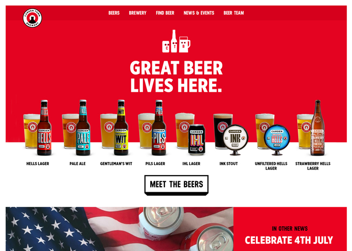 Awwwards website of the day: Camden Town Brewery