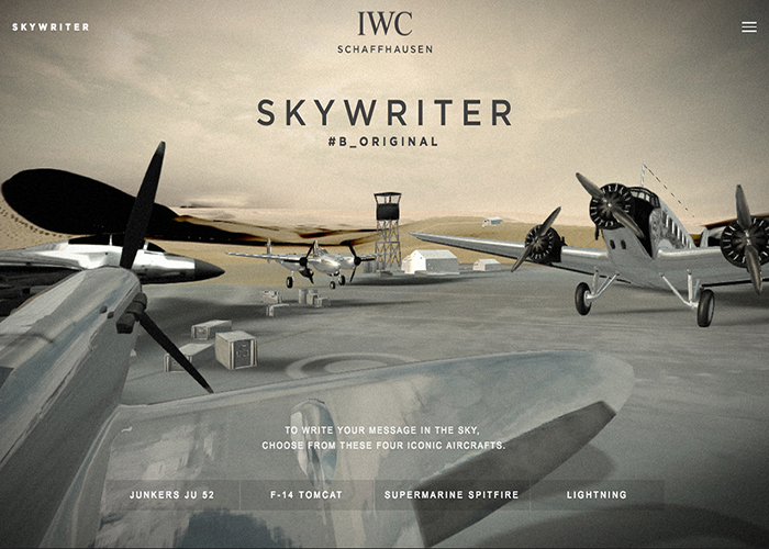 Awwwards website of the day: IWC Skywriter