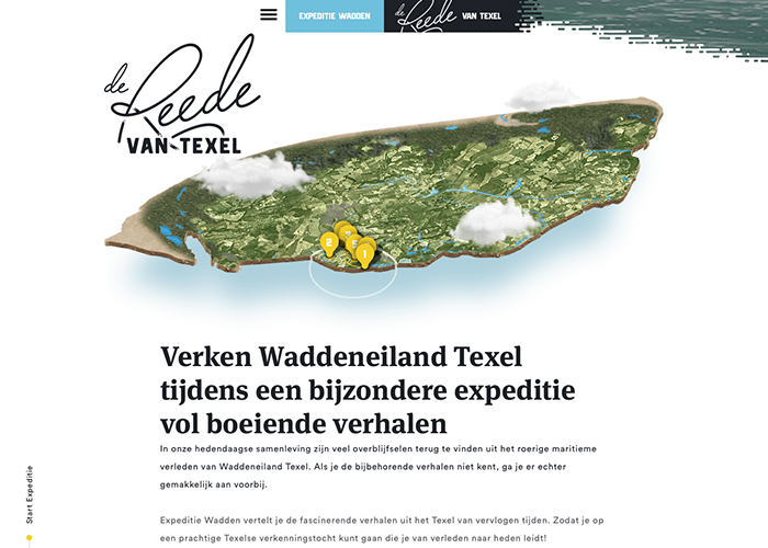 Awwwards website of the day: Expeditie Wadden