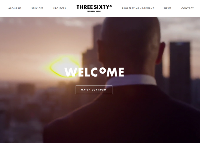 Awwwards website of the day: Three Sixty Property Group