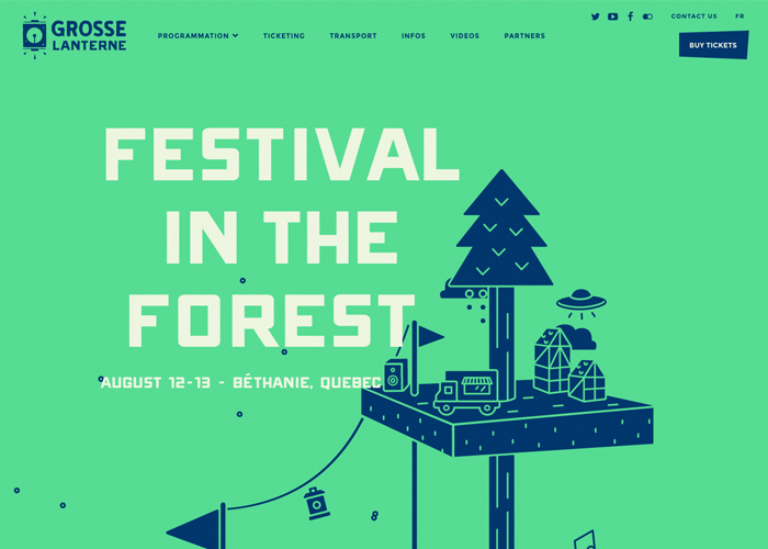 Awwwards website of the day: Grosse Lanterne
