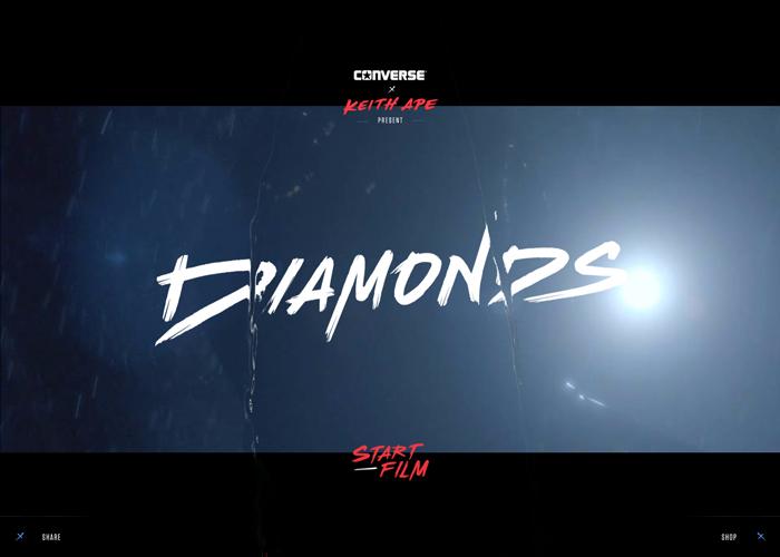 Awwwards website of the day: Converse Diamonds