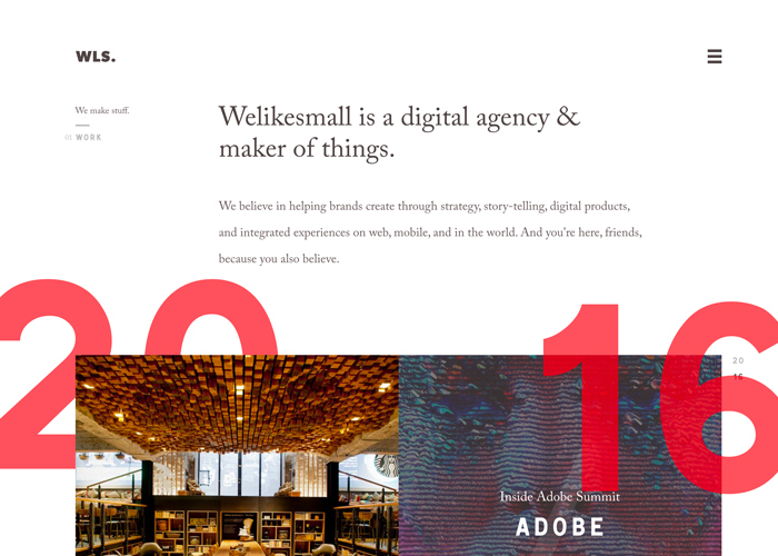 Awwwards website of the day: Welikesmall