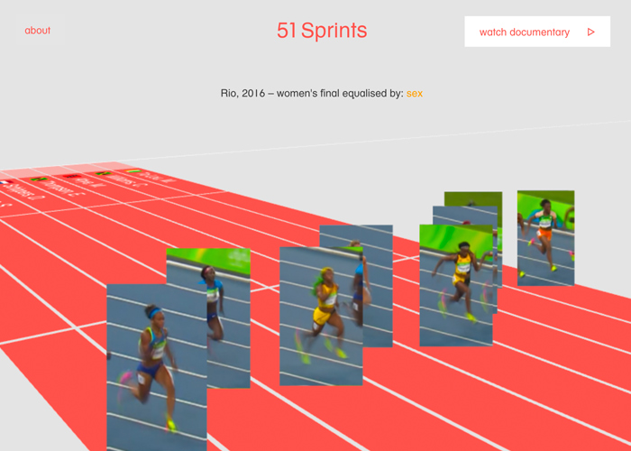 Awwwards website of the day: 51 Sprints - The Human Race