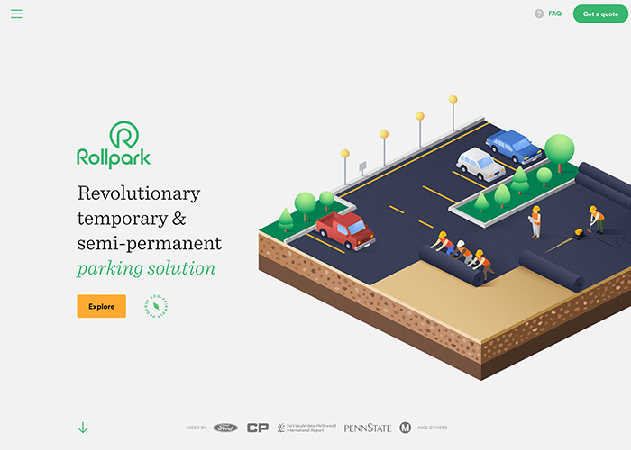 Awwwards website of the day: Rollpark