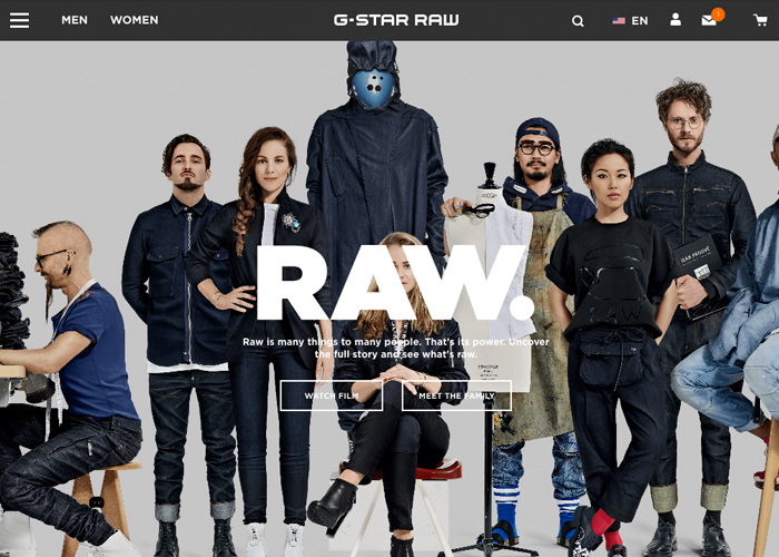 Awwwards website of the day: G-Star RAW