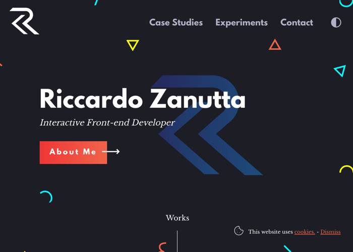Awwwards website of the day: Riccardo Zanutta - Interactive Frontend Developer