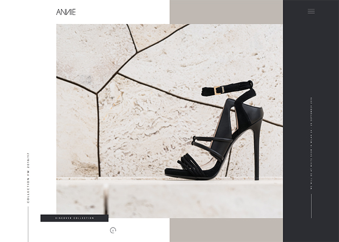 Awwwards website of the day: ANNIE