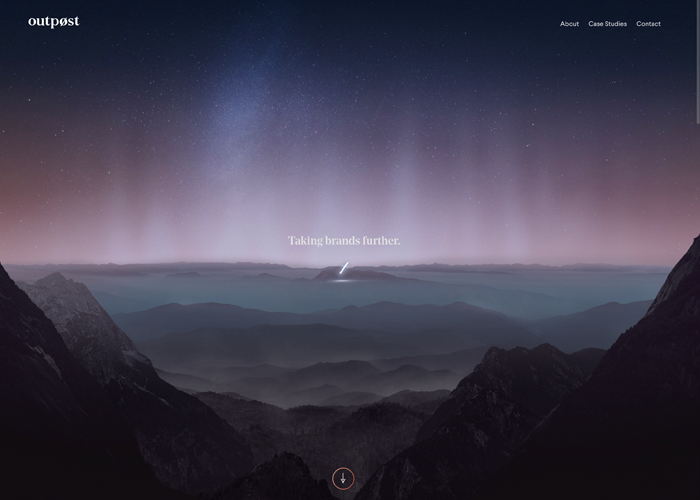 Awwwards website of the day: Outpost