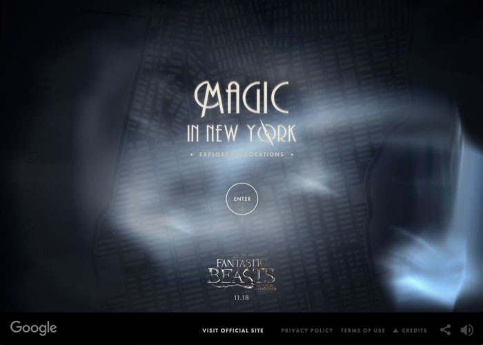 Awwwards website of the day: Magic in New York