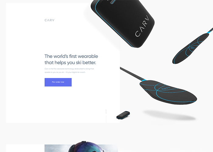 Awwwards website of the day: Carv