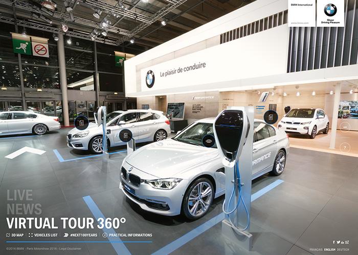 Awwwards website of the day: BMW - Paris Motorshow 2016