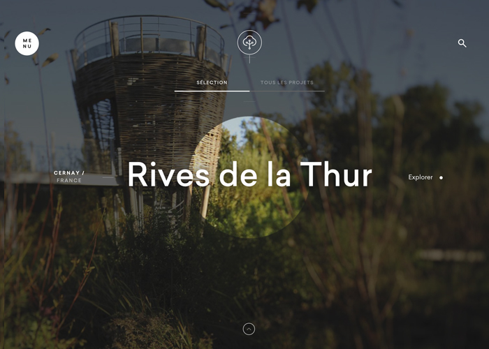 Awwwards website of the day: Villes & Paysages