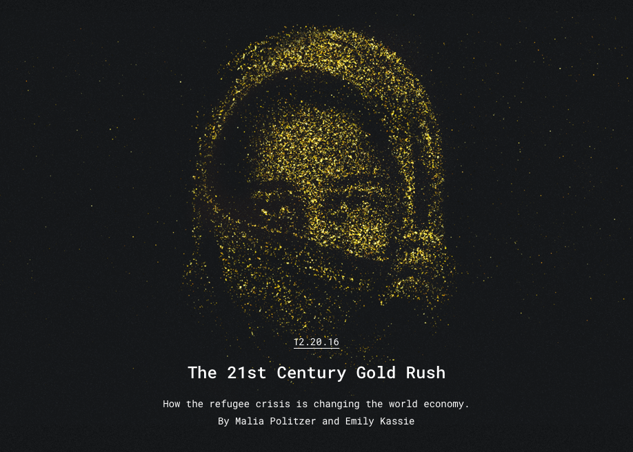 Awwwards website of the day: The 21st Century Gold Rush