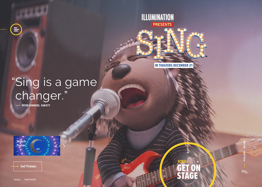 Awwwards website of the day: SING