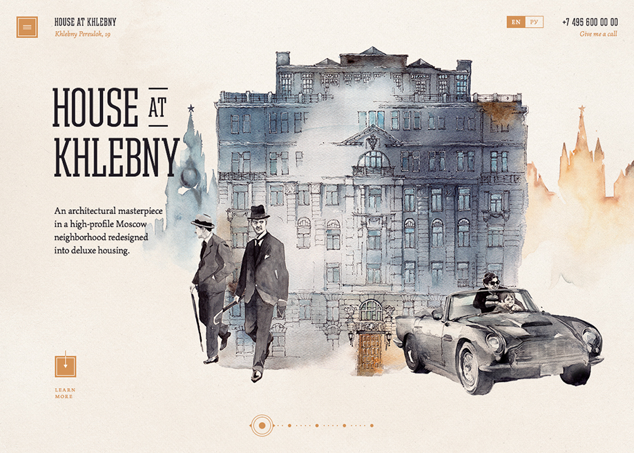 Awwwards website of the day: House At Khlebny