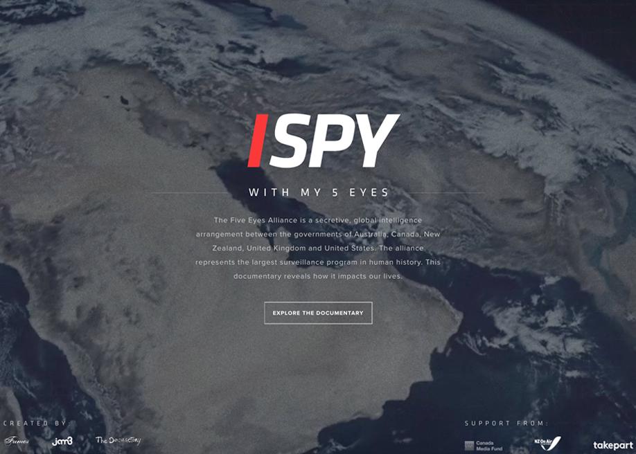 Awwwards website of the day: I SPY (With My Five Eyes)