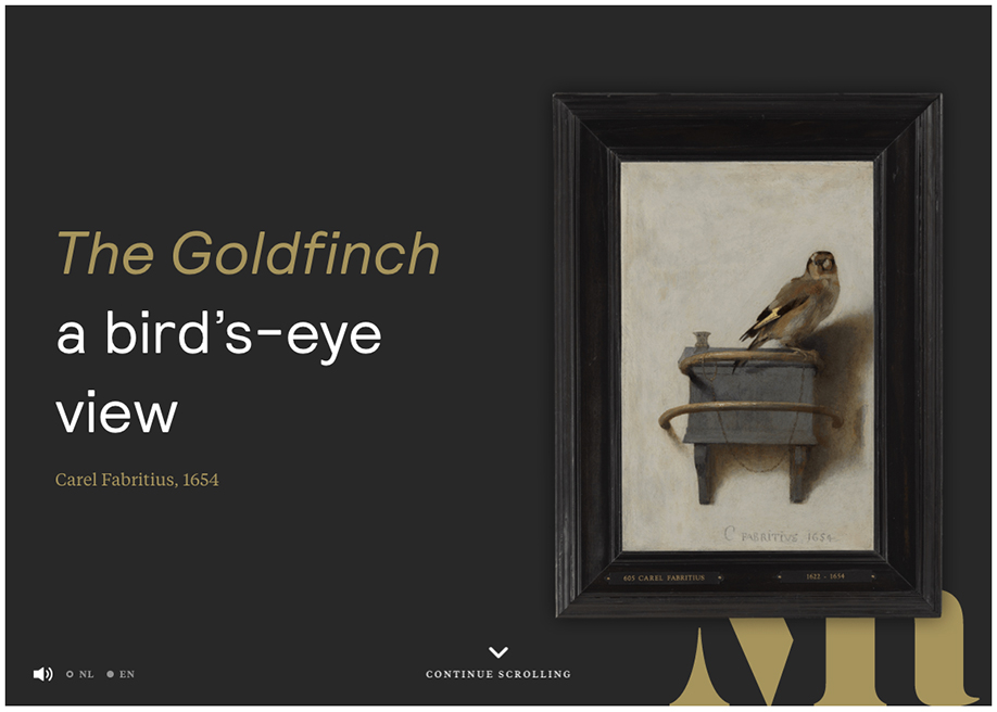 Awwwards website of the day: The Goldfinch