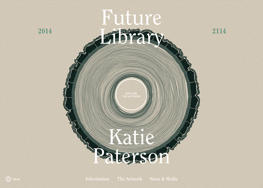 Awwwards website of the day: Future Library 2014 — 2114