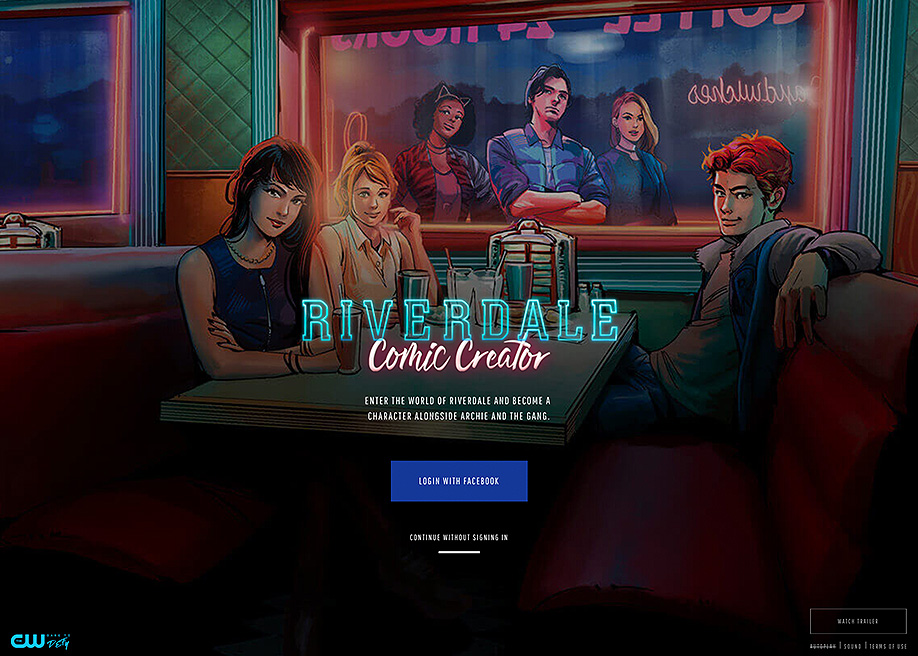 Awwwards website of the day: Riverdale Comic Creator