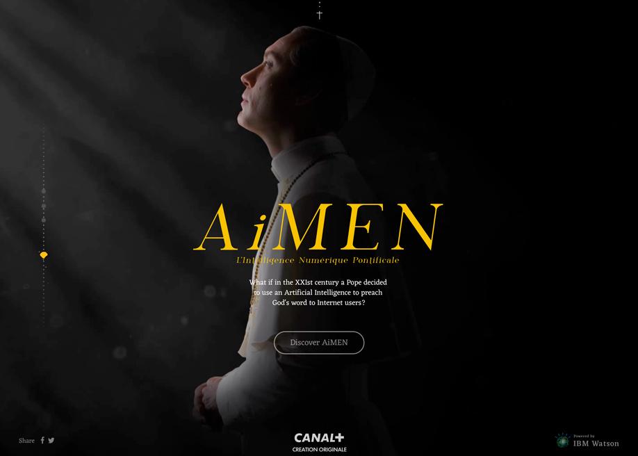 Awwwards website of the day: AiMEN