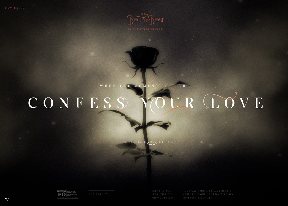 Awwwards website of the day: Confess Your Love 360