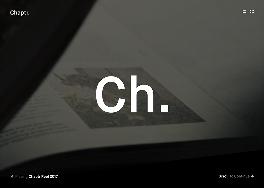 Awwwards website of the day: Chaptr.