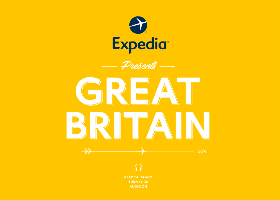 Awwwards website of the day: Expedia: VisitBritain