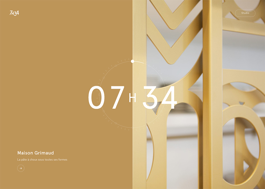 Awwwards website of the day: 7h34