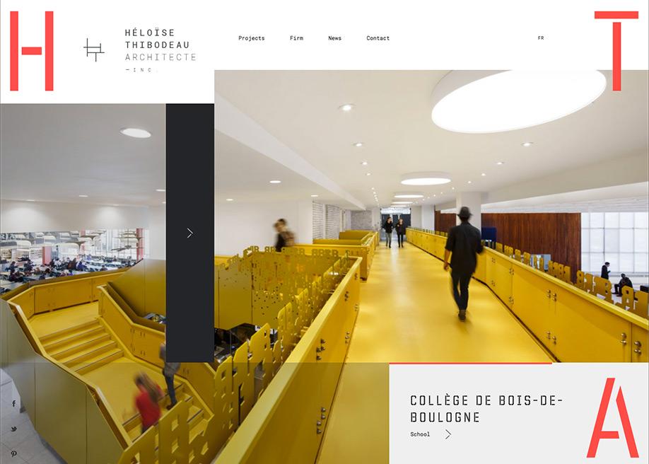 Awwwards website of the day: Héloise Thibodeau Architecte