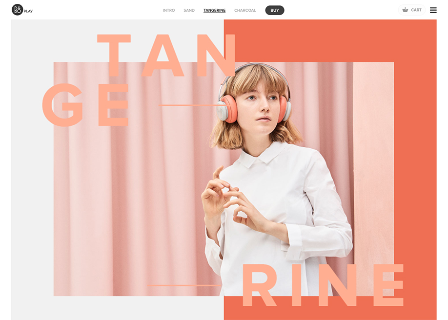 Awwwards website of the day: B&O PLAY Spring/Summer 2017