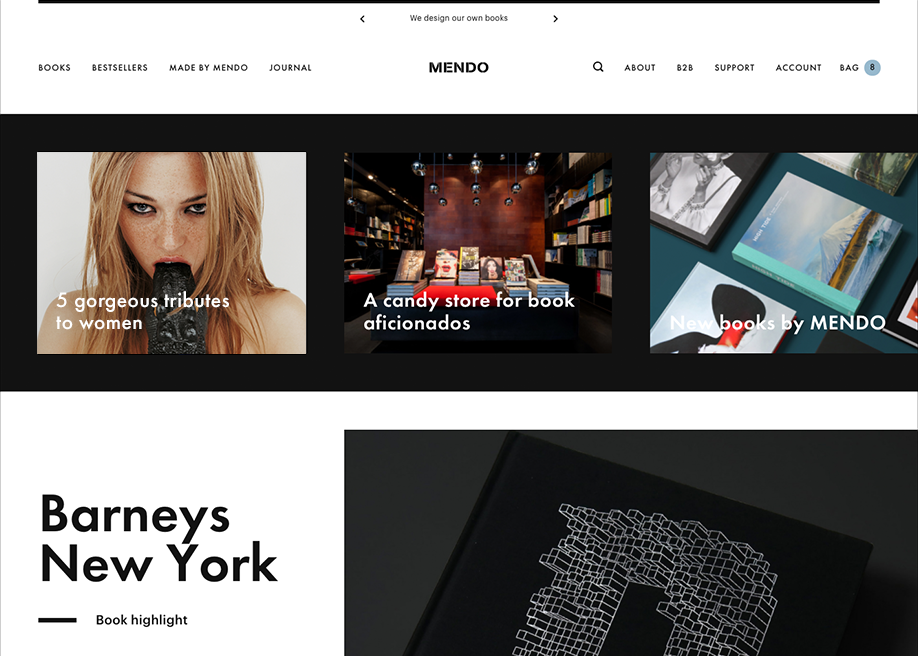 Awwwards website of the day: Mendo