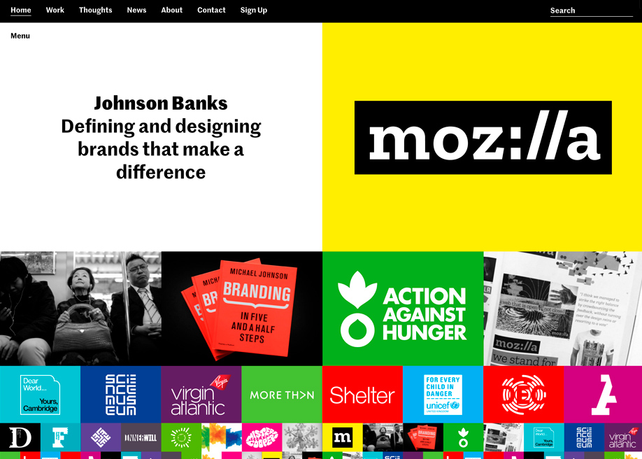 Awwwards website of the day: Johnson Banks