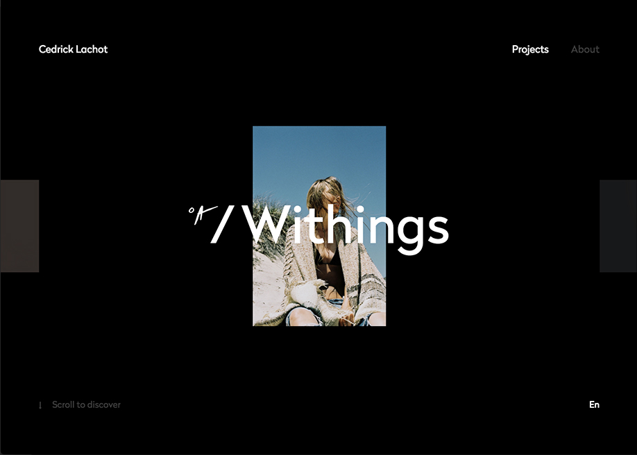 Awwwards website of the day: Cedrick Lachot - Portfolio