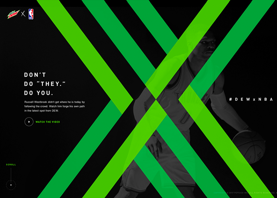 Awwwards website of the day: MTN DEW x NBA