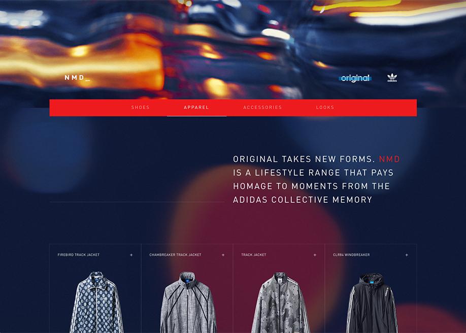 Awwwards website of the day: adidas Originals NMD