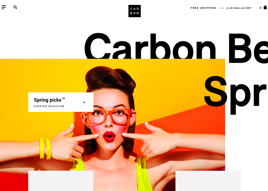 Awwwards website of the day: Carbon Beauty