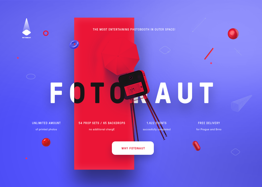 Awwwards website of the day: Fotonaut Events