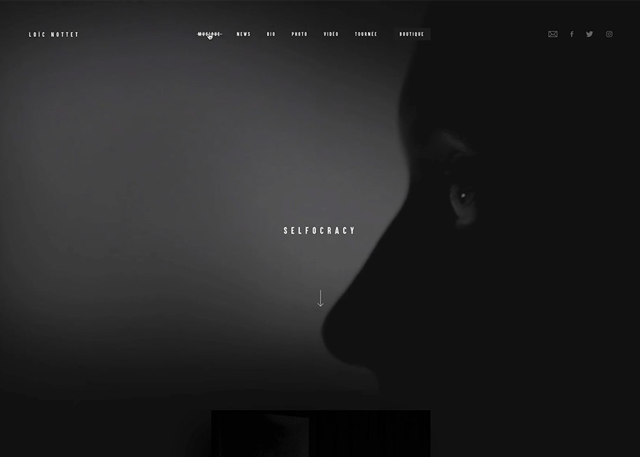 Awwwards website of the day: Loic Nottet
