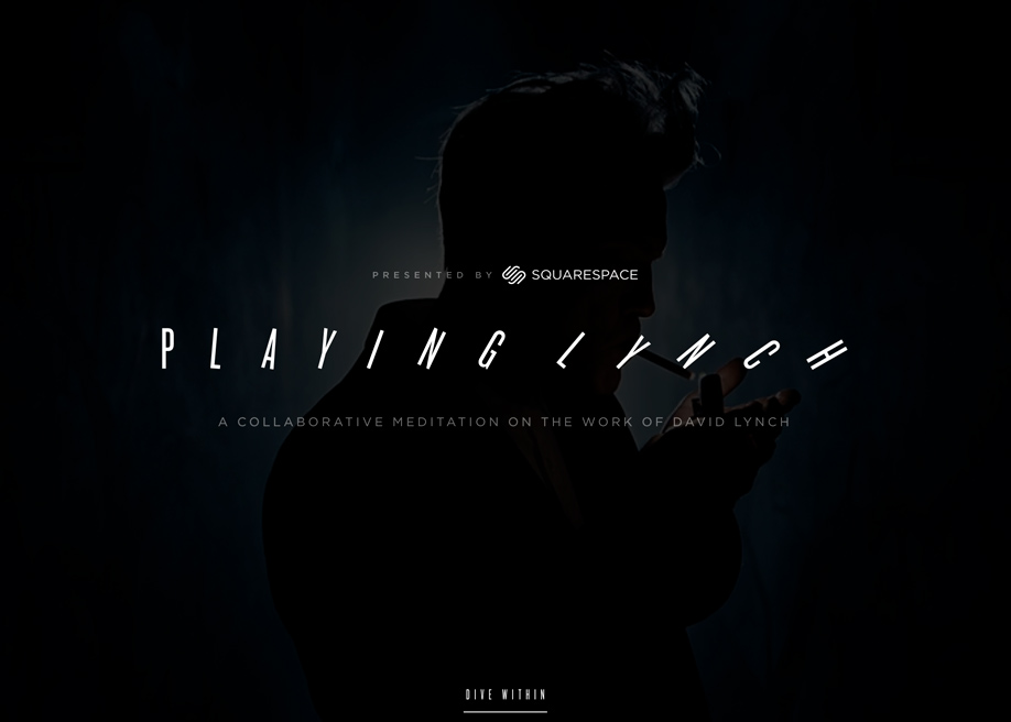 Awwwards website of the day: Playing Lynch