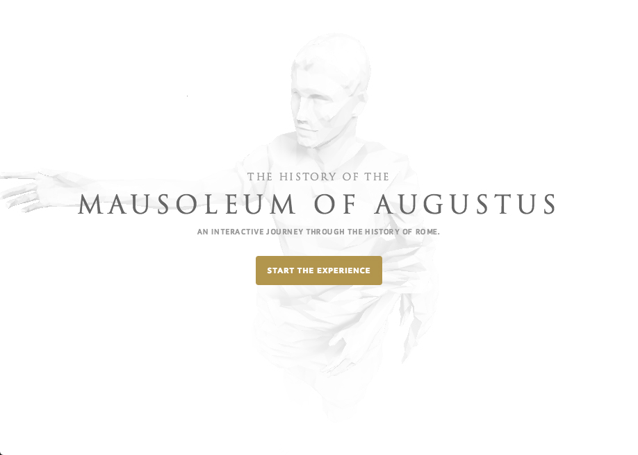 Awwwards website of the day: Mausoleum of Augustus