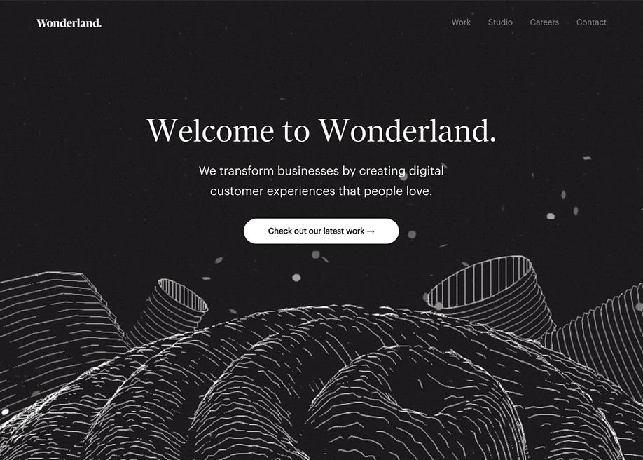 Awwwards website of the day: Wonderland.
