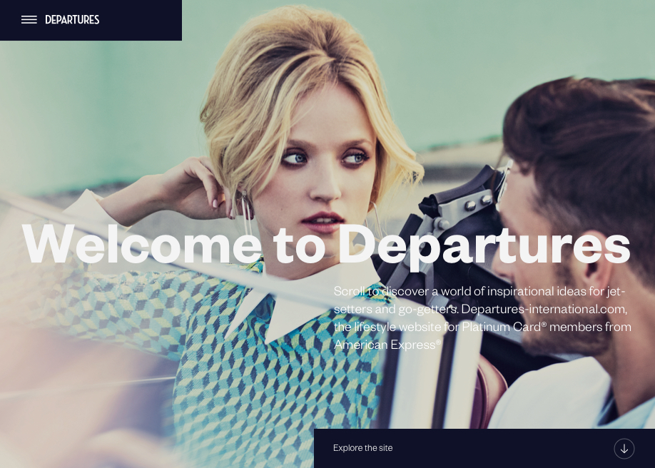 Awwwards website of the day: Departures International