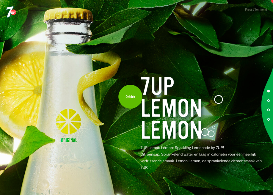 Awwwards website of the day: 7UP
