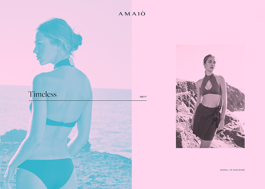 Awwwards website of the day: Amaiò Swim