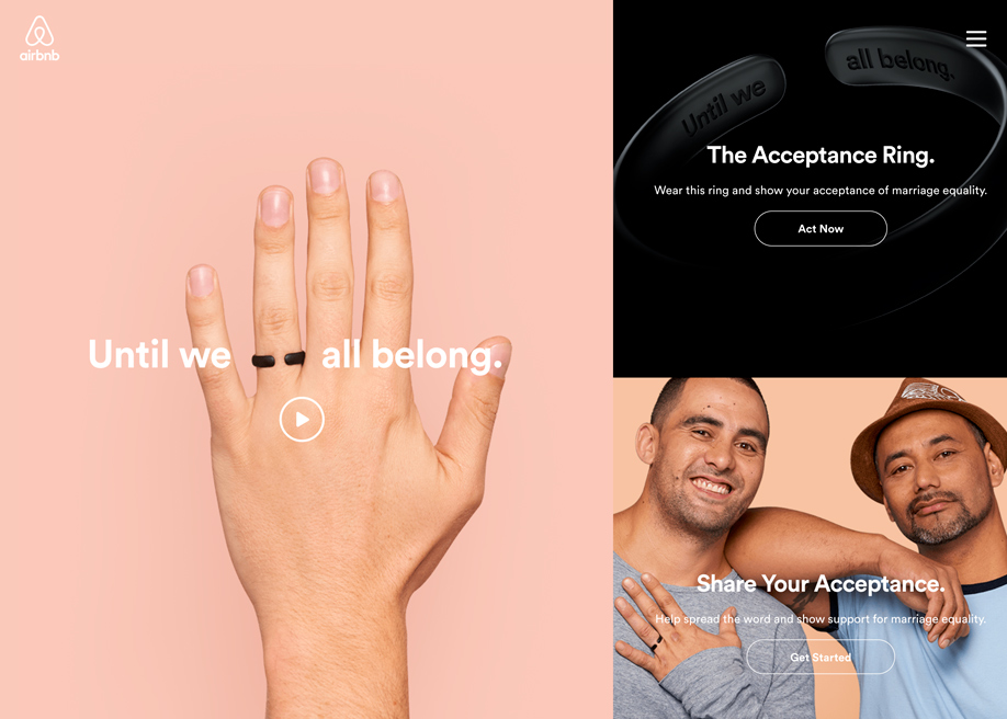 Awwwards website of the day: Airbnb - Until We All Belong