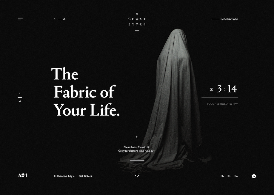 Awwwards website of the day: A Ghost Store