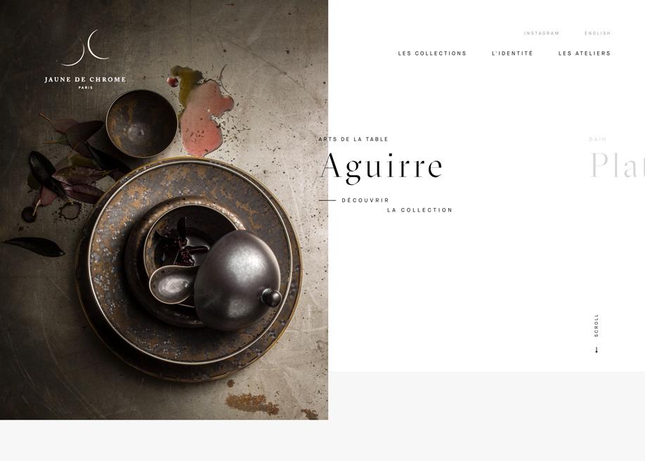 Awwwards website of the day: Jaune de Chrome