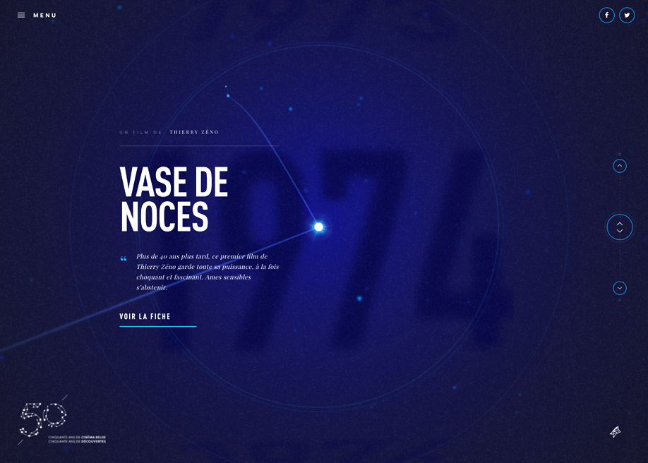 Awwwards website of the day: 50 ans du Cinéma